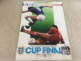 F.A. Cup Final Programme - 1986.