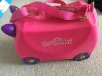 Pink Trunki - children's ride on suitcase/ luggage