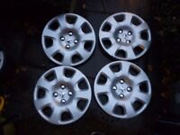 GENUINE PEUGEOT 14 INCH WHEEL TRIMS SET OF 4 GOOD CONDITION