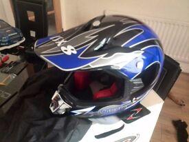 kids viper motorbike helmet new