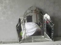 Elegant vintage style dressing table mirror