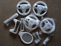 Nintendo Wii Racing Wheels and Accessory Pack
