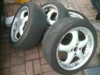 "4x108 17"" Rial 5 spoke alloy wheels deep dish peugeot Citroen saxo 106 206 207 307 fiesta focus"