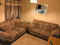 2 Large two seater dfs sofa and foot stall