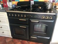 Gas cooker range and extractor fan Leisure 110