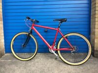 Rare Mid/late 90s Marin Muirwood double-butted chromoly steel frame (red) 17 inch custom bike build