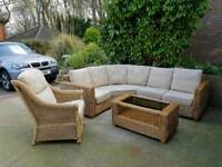 Rattan conservatory furniture chair and table set