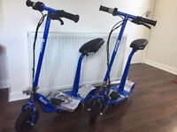 Blue Razor electric scooters. £85 each. Brand new condition.