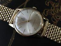 Vintage vintage 9k 9ct solid gold Tudor ROLEX with 9ct gold bracelet (serviced)
