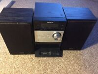 Sony CD player/radio,mp3 component system