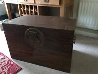 Large wooden chest/ trunk