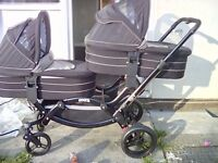 Twin pram in excellent condition