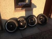 """17"""" alloys with tyres"""