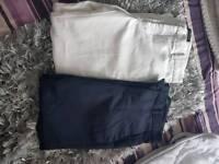 2x Zara Cropped Trousers