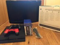 PS4 500GB with free monitor and 6 games !