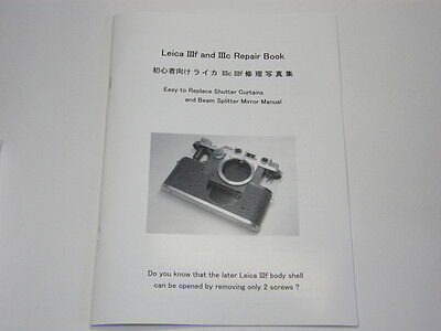 Leica IIIf & IIIc (3 3a 3b) Repair Book Replace Shutter Curtains & Mirror Manual