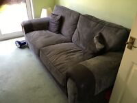 3 seater sofa grey/ black .. Good condition .. Buyer to collect