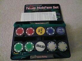 Texas Hold'em Poker Set - RRP £30.00 Brand New