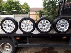 FORD KA ALLOY WHEELS AND TIRES SIZE. 165/60 R14.