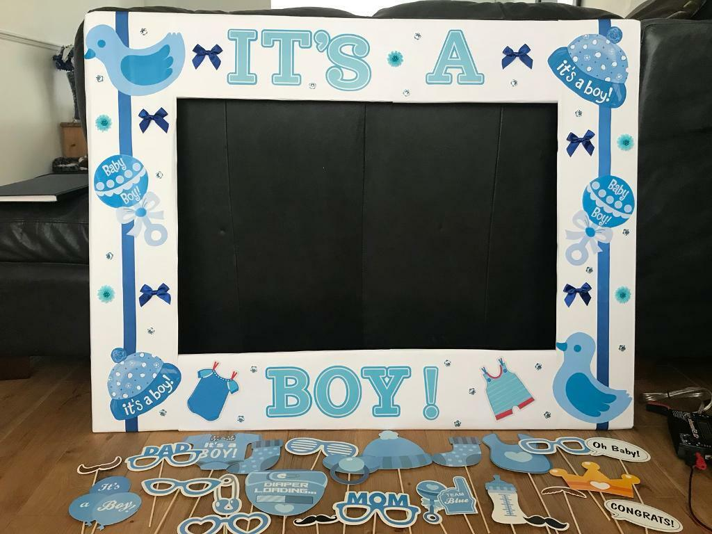 Baby Shower Photo Booth Frame & Props