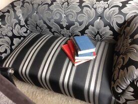 Old sofa reupholstered
