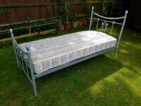 Single Metal Bed Frame and Single Quality Mattress