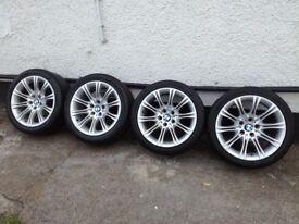 BMW 5 Series E60 ,E61 genuine M Sport wheels with tyres MV2