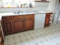 Large Fitted Kitchen for sale (Units, worktops & appliances included)
