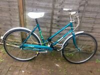 "Lady's Bike ""Raleigh Campus"" and lock GOLDERS GREEN"