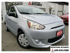 2015 Mitsubishi Mirage ES Plus package; Certified!