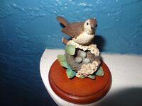 Border fine arts Russell Willis bird Thrush with nest ornament