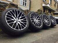 "19"" OEMS Concave Alloy Wheels & Tyres 5x114.3 HONDA TOYOTA TYPE R ACCORD CIVIC"