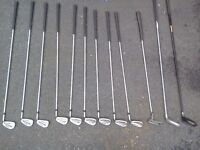 Full set of golf clubs with bag
