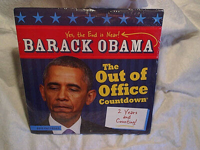 2015 BARACK OBAMA CALENDAR The Out Of Office Countdown SEALED,crazy uncle joe