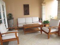 Teak wood patio set