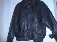 ****REDUCED AGAIN****XL BLACK LEATHER JACKET, EXCELLENT CONDITION.