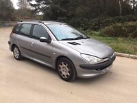 2004 PEUGEOT 206 ESTATE SPARES OR REPAIRS STARTS AND DRIVES £d295 O-N-O