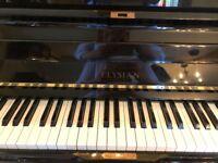 Elysian upright black piano