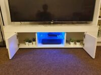 Tv stands with blue light