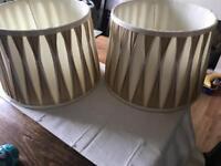 Laura Ashley 2 lamp shades