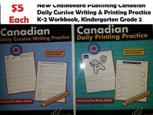 $5 Chalkboard Publishing Canadian Writing & Printing Practice K-2 Workbook, Kindergarten Grade 2