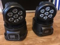 MOVING HEADS PAIR DMX BOXED