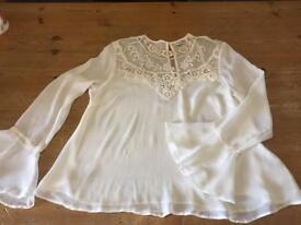 Miss Selfridge blouse never worn size 10