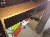 Argos black and beech effect drawer