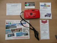 Bargain Retro Berkeley Boxed Panorama 35mm Panoramic Camera Wide Picture Focus Free 6 Colour Films