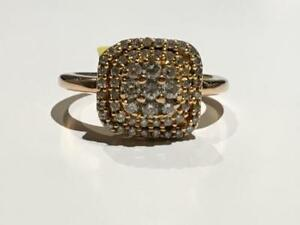 #1561 10K ROSE GOLD LADIES DIAMOND CLUSTER *SIZE 5 1/4* APPRAISED AT $2150.00 SELLING FOR $695.00!