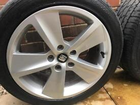 "Seat Leon 17"" alloy wheels"