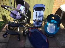 Maxi cosy travel system and buggy board
