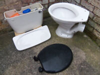 Armitage Shanks white low level ceramic cistern + toilet