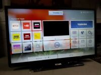 42-Inch Toshiba smart wifi builtin led tv with freeview HD -- Excellent condition